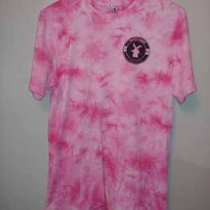 Hot Pink Tie Dye Dutch Bros Coffee Graphic Tee L